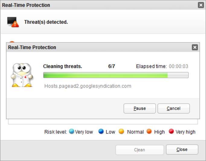 virusscan in uitvoering