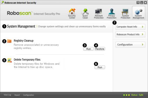 system management instellingen robo free virusscanner