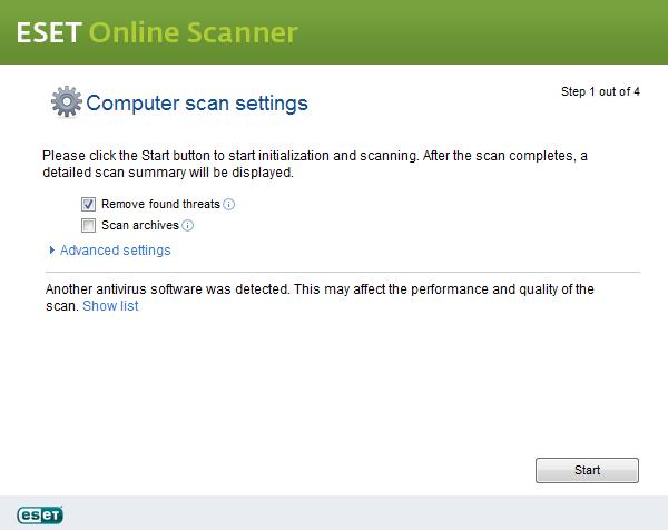 control panel eset webbase antivirus