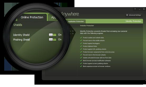 identiteit beschermingsfunctie webroot