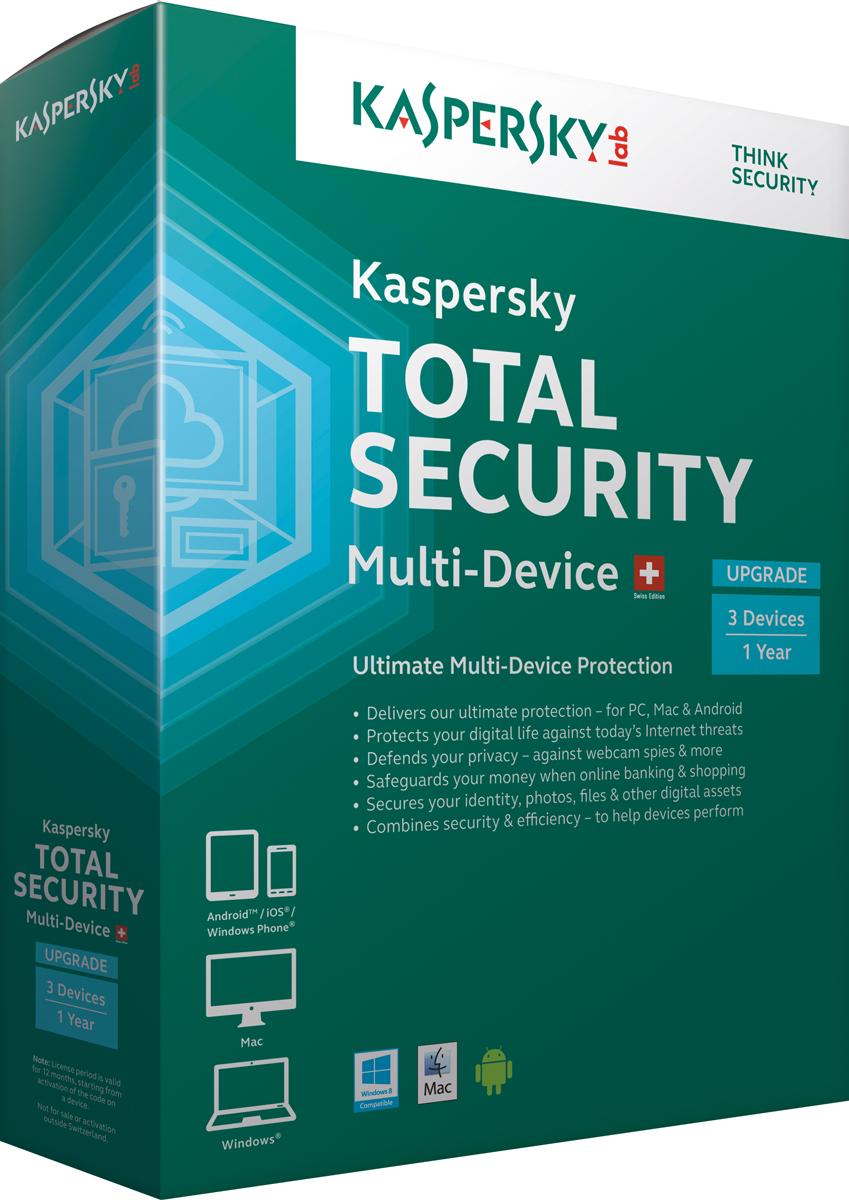 totaal beveilings pakket voor windows mac en android van Kaspersky
