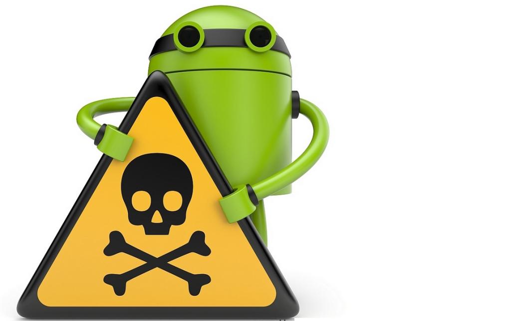 android met gevaren bord