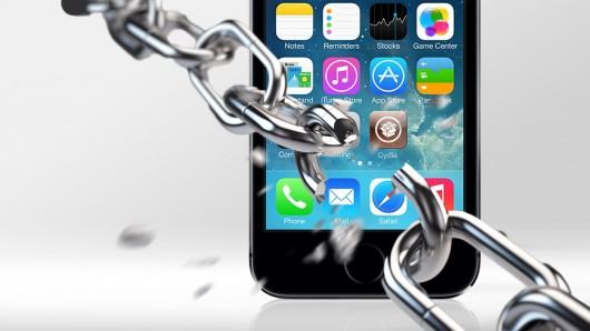 iphone met gebroken ketting