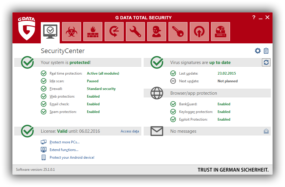 G Data Total Security Review